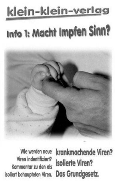 Info 1: Macht Impfen Sinn?